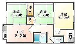 [一戸建] 岡山県岡山市東区益野町 の賃貸【/】の間取り