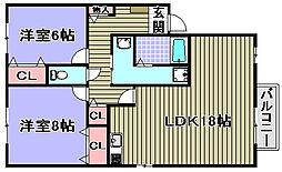 セジュール又巳 A棟[A101号室]の間取り