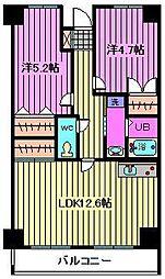 メゾンドソレイユ[3階]の間取り