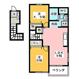 アメニティプレイス[2階]の間取り