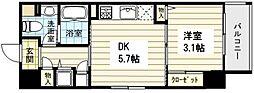 サニーハウス南堀江 5階1DKの間取り