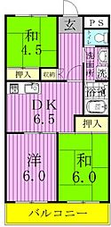 松戸レジデンス[3階]の間取り