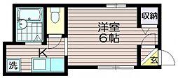 東京都調布市若葉町2の賃貸アパートの間取り