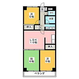 芝塚マンション[5階]の間取り