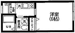 コーポ片平[203号室]の間取り