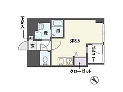 ステージア平尾[5階]の間取り