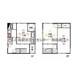 [一戸建] 静岡県三島市多呂 の賃貸【/】の間取り