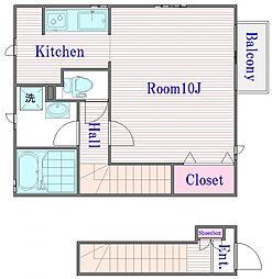 メゾンオトヌ[2階]の間取り