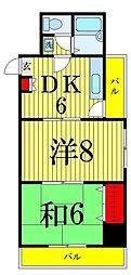東京都足立区中央本町1丁目の賃貸マンションの間取り