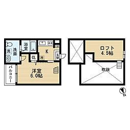 愛知県名古屋市南区中江2丁目の賃貸アパートの間取り