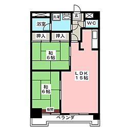 レーベンコート B棟[1階]の間取り