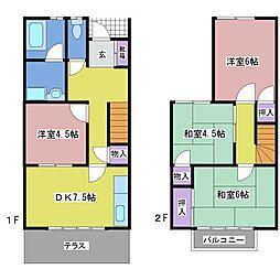 [タウンハウス] 兵庫県神戸市西区池上4丁目 の賃貸【兵庫県 / 神戸市西区】の間取り