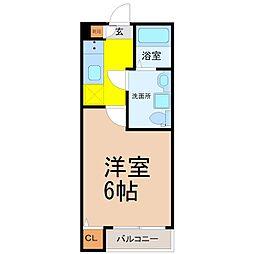 愛知県名古屋市南区三吉町2丁目の賃貸アパートの間取り