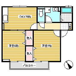 メゾン・プルミエ B棟[2階]の間取り