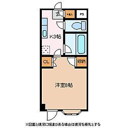 長野県松本市大字里山辺の賃貸マンションの間取り