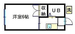 神大寺ハイツ[2階]の間取り