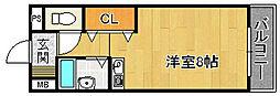 ポートサイド310[3階]の間取り