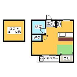 シティベール松崎[2階]の間取り