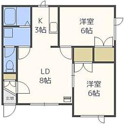 ケント37[2階]の間取り