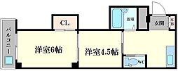 マンション華[3階]の間取り