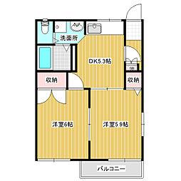 フレグランスリバティA棟[1階]の間取り