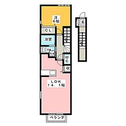 ドゥー・ジェンテ[2階]の間取り