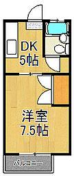 神奈川県横浜市戸塚区影取町の賃貸アパートの間取り