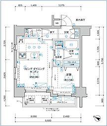 JR山手線 大塚駅 徒歩6分の賃貸マンション 10階1LDKの間取り