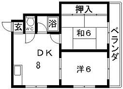 メゾングレイン[5階]の間取り