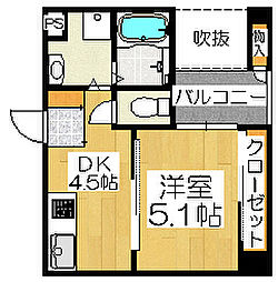 ロイヤルガーデン堺[8階]の間取り