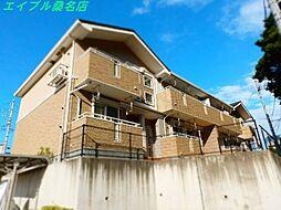 三重県桑名市大字芳ケ崎の賃貸アパートの外観
