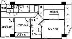 ロイヤルグレーシー上甲子園[2階]の間取り