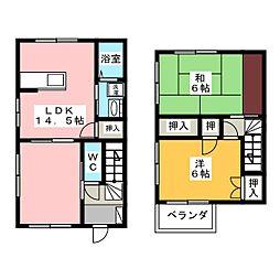 [テラスハウス] 静岡県袋井市愛野東2丁目 の賃貸【/】の間取り