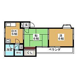 グレイスコートS[2階]の間取り