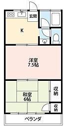 コーポ小野[2階]の間取り