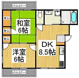 元町糸伝マンション[2階]の間取り