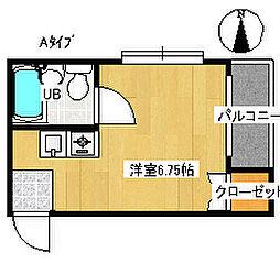 フォンタルTI[3階]の間取り