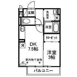 セジュール上鶴間[2階]の間取り