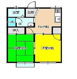 シェルブール江成[205号室]の間取り