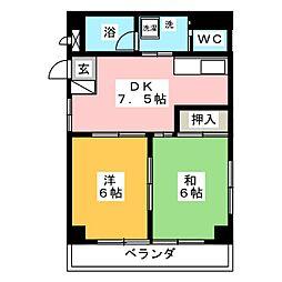 ラ・エスタシオン神宮東[2階]の間取り