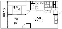 新潟駅南ハイツ[6階]の間取り