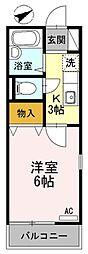 東京都町田市森野5丁目の賃貸アパートの間取り