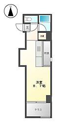 クレイタスパーク1[3階]の間取り