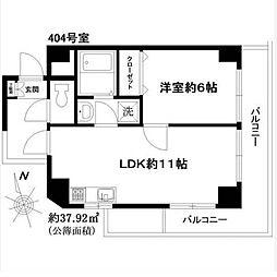 マートルコート中目黒 (MEARTOLCOAT)[3階]の間取り