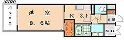 RJRプレシア新宮中央駅前[6階]の間取り