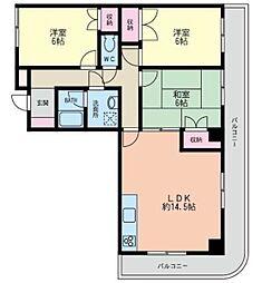 シェルボ茅ヶ崎[4階]の間取り