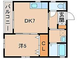 PAL松江[1階]の間取り