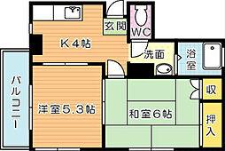 松田ビル[1階]の間取り