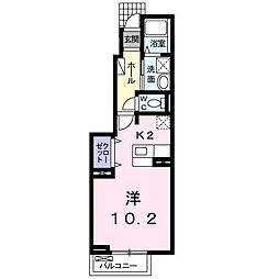サン・フレイムYABE B[1階]の間取り