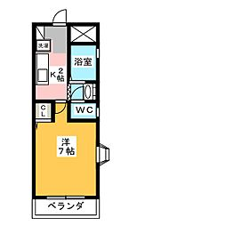 愛知県名古屋市守山区小幡1の賃貸マンションの間取り